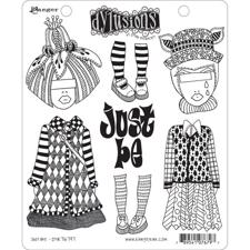 Cling Rubber Stamp Set - Dylusions / Just Be
