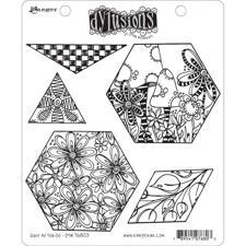 Cling Rubber Stamp Set - Dylusions / Quilt as You Go
