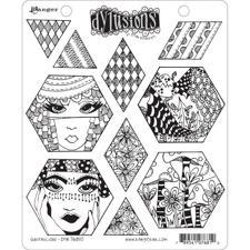 Cling Rubber Stamp Set - Dylusions / Quiltalicious