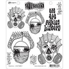 Cling Rubber Stamp Set - Dylusions / Pandemic