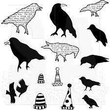 Cling Rubber Stamp Set - Dylusions / Birds on a Wire