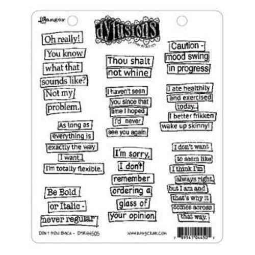 Cling Rubber Stamp Set - Dylusions / Don\'t Hold Back
