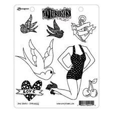 Cling Rubber Stamp Set - Dylusions / Jay's Jollies