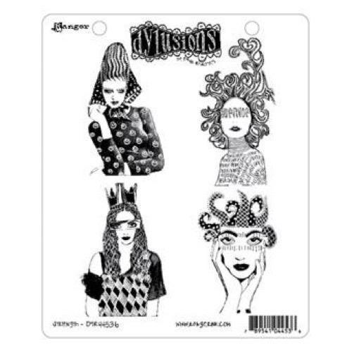 Cling Rubber Stamp Set - Dylusions / Strength