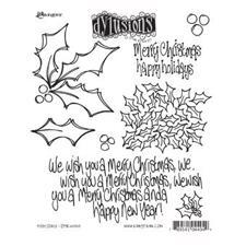 Dylusions Cling Rubber Stamp Set - Holly Days