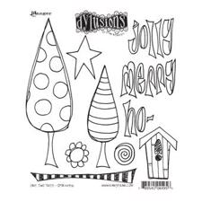 Dylusions Cling Rubber Stamp Set - One Two Tree
