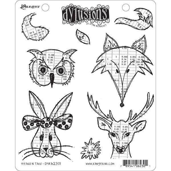 Cling Rubber Stamp Set - Dylusions / Heads N Tails