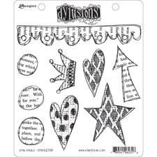 Cling Rubber Stamp Set - Dylusions / Star Struck