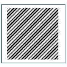 Gina K Design Background Stamp - Diagonal Stripe