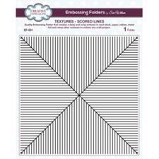 "Creative Expressions Embossing Folder - 8x8"" / Scored Lines"