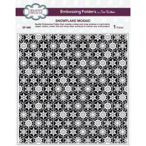 "Creative Expressions Embossing Folder - 8x8"" / Snowflake Mosaic"