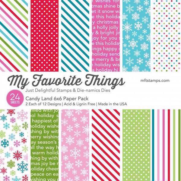 "My Favorite Things Paper Pad 6x6"" - Candy Land"