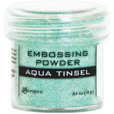 Ranger Embossing Powder - Tinsel (glitter) Aqua