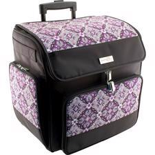 Everything Mary Scrapbook Rolling Tote - Grape & Gray / Black