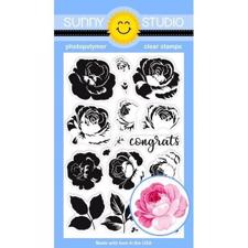 Sunny Studio Stamps - Clear Stamp / Everything's Rosy
