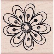 Wood Stamp - Small Magical Flower