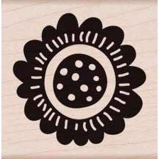 Wood Stamp - Scalloped Flower