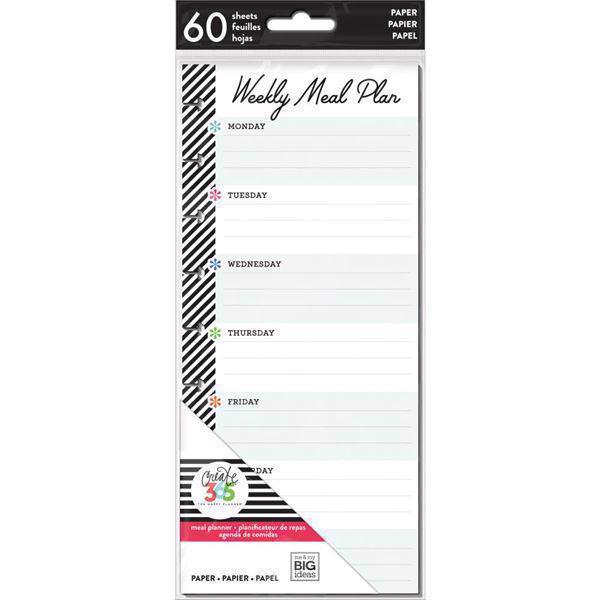 Happy Planner / Create 365 - Half Sheet Fill Paper / Meal Planning (std)