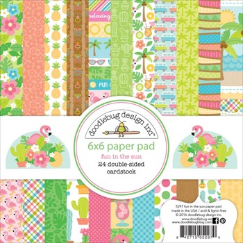 "Doodlebug Design Paper Pad 6x6"" - Fun in the Sun"