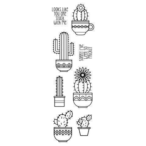 Clear Singles Stamp - Succulents