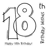 Clear Magic Stamp - 18th Birthday