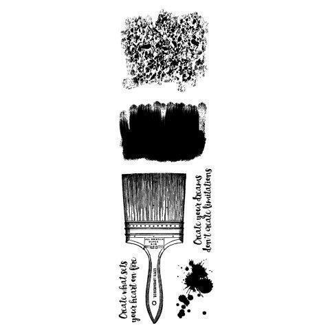 Clear Singles Stamp - Creative Paintbrush
