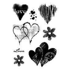 Clear Singles Stamp - Heart Collection