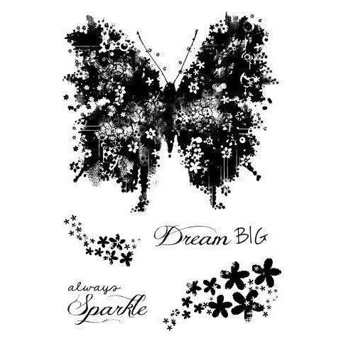 Clear Singles Stamp - Butterfly Sparkle