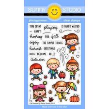 Sunny Studio Stamps - Clear Stamp / Fall Kiddos