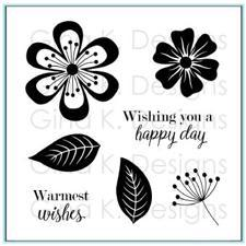 Gina K Design Clear Stamps - Fancy Flowers