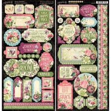 Graphic 45 Cardstock Stickers - Bloom