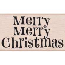 Wood Stamp - Merry Merry Christmas