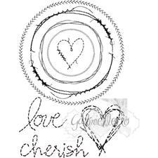 49 and Market Clear Stamp - Gabi's Circle Stitch
