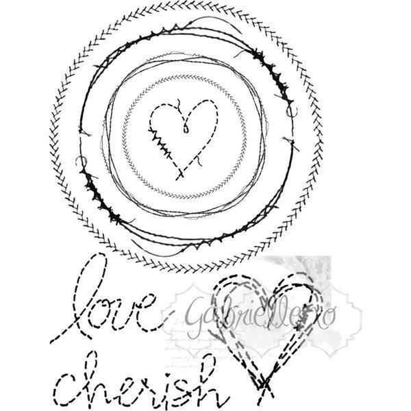 49 and Market Clear Stamp - Gabi\'s Circle Stitch