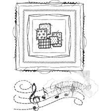 49 and Market Clear Stamp - Gabi's Square Stitch