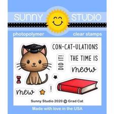 Sunny Studio Stamps - Clear Stamp / Grad Cat