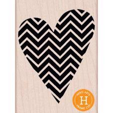 Wood Stamp - Patterned Heart