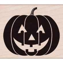 Wood Stamp - Scary Pumpkin (Holidays 2012)