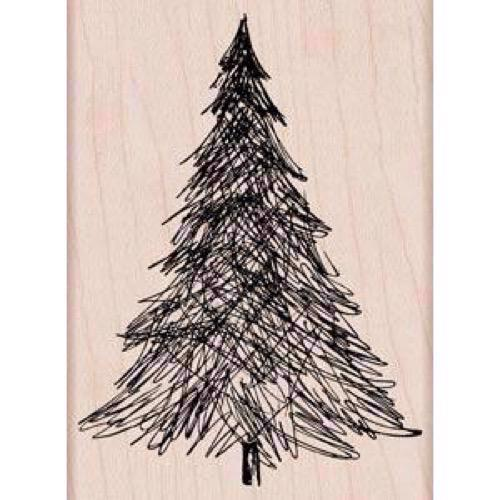Hero Arts Wood Stamp - Pen & Ink Christmas Tree