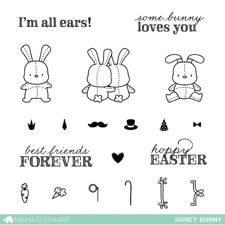 Mama Elephant Clear Stamp Set - Honey Bunny