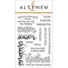 Altenew Clear Stamp Set - Halftone Holidays