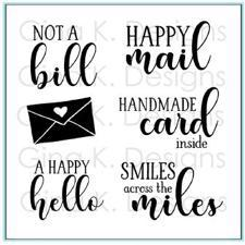 Gina K Design Clear Stamps - Happy Mail