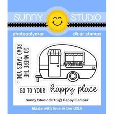 Sunny Studio Stamps - Clear Stamp / Happy Camper