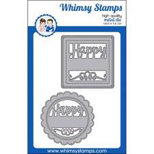 Whimsy Stamps DIE - Happy Sayings Frame