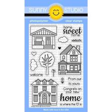Sunny Studio Stamps - Clear Stamp / Happy Home