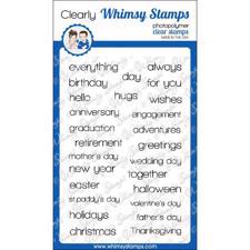 Whimsy Stamps Clear Stamp - Happy Sayings