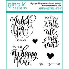 Gina K Design Clear Stamps - Hearty Greetings