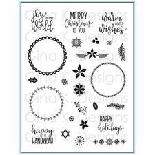 Gina K Design Clear Stamps - Holiday Wreath Builder