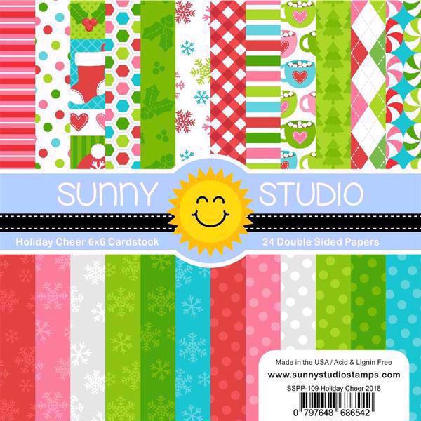 "Sunny Studio Stamps Paper Pad 6x6"" - Holiday Cheer"