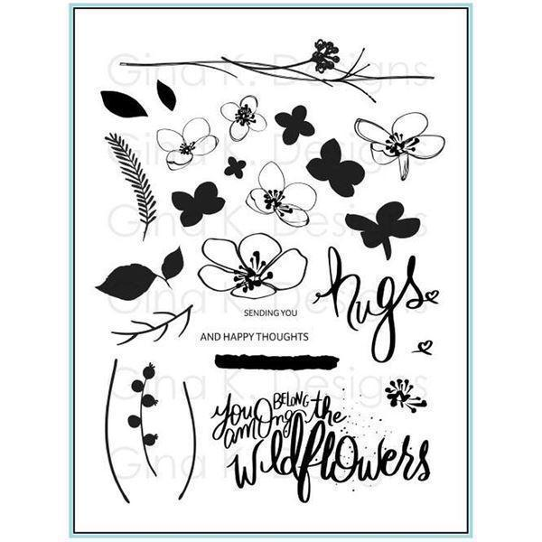 Gina K Design Clear Stamps - Hugs and Wildflowers